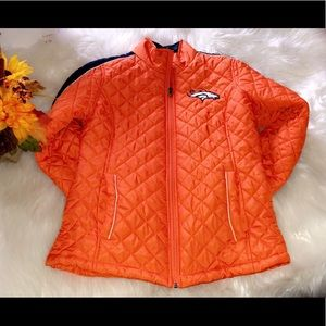 DENVER BRONCOS Orange Light Puffer Jacket